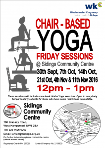 Chair Based Yoga Poster